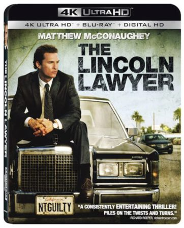 THE LINCOLN LAWYER arrives on 4K Ultra HD Combo Pack (plus Blu-ray and Digital HD) August 15 1