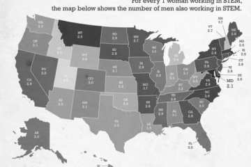THE AV REPORT: Which States Have The Smallest Gender Gap In STEM Occupations? 7