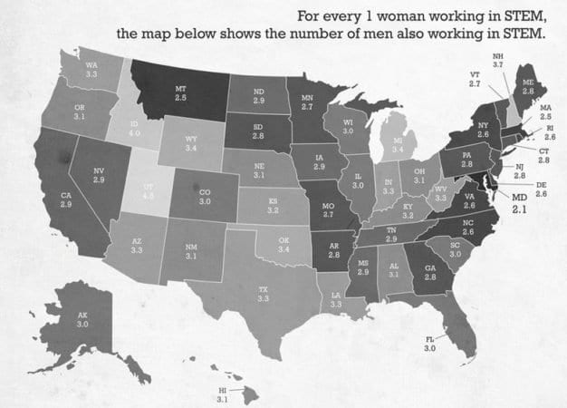 THE AV REPORT: Which States Have The Smallest Gender Gap In STEM Occupations? 3