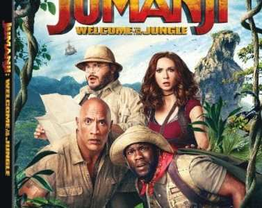 JUMANJI: WELCOME TO THE JUNGLE Available on Digital 3/6, Blu-ray and DVD 3/20 3
