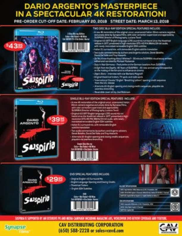 HOME VIDEO ROUNDUP: SUSPIRIA, PATH OF BLOOD, THE SANDLOT, WOMEN IN PRISON BEHIND BARS, HELENA, UNEARTHED & UNTOLD AND MORE! 3