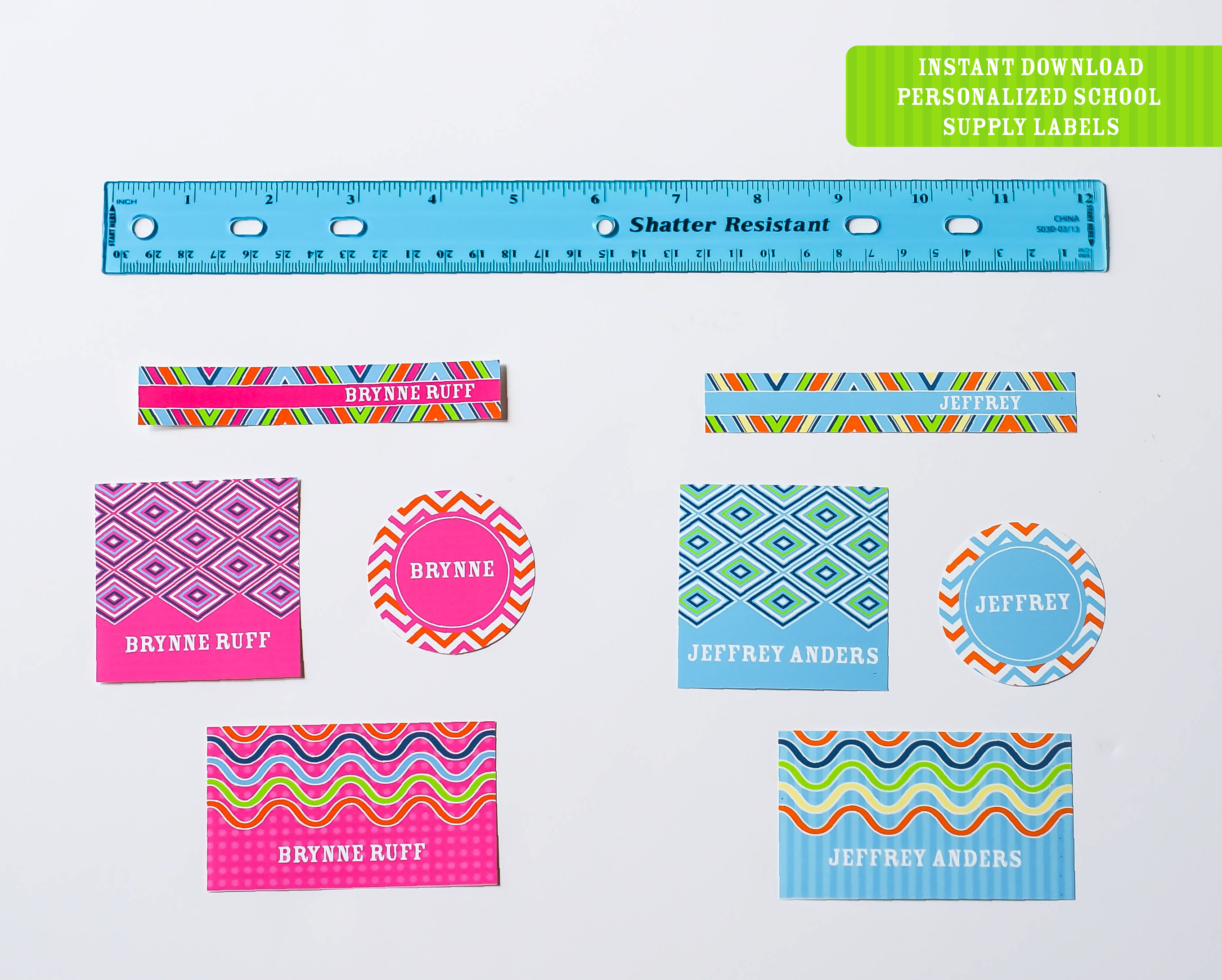 Printable Back To School Labels Round Up Freebie