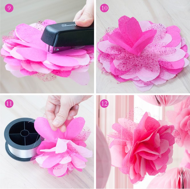 Tutorial How To Make Diy Giant Tissue Paper Flowers O