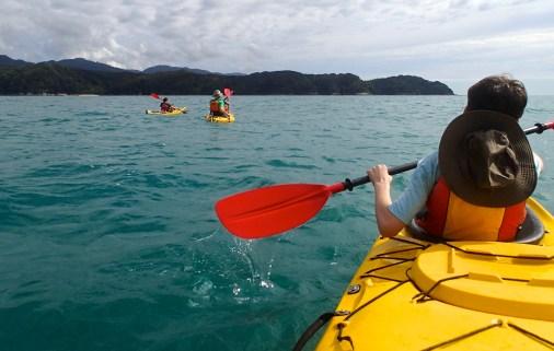 The Abel Tasman coastline.
