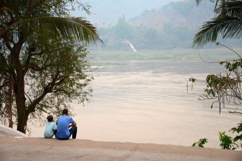 Above the Mekong River.