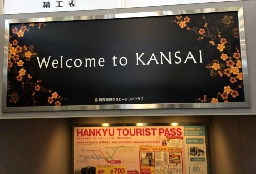 Arriving Osaka airport.