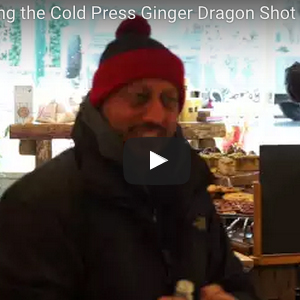 Malcolm trialling the Cold Press Ginger Dragon Shot
