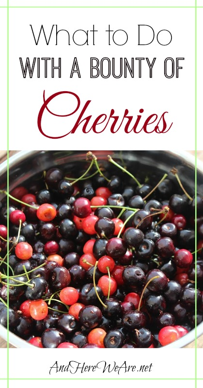 What to do with a bounty of cherries