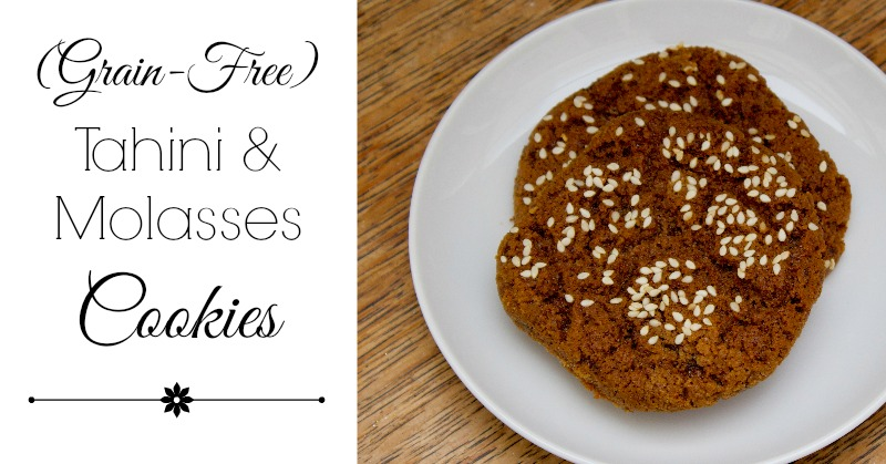Tahini & Molasses Cookies