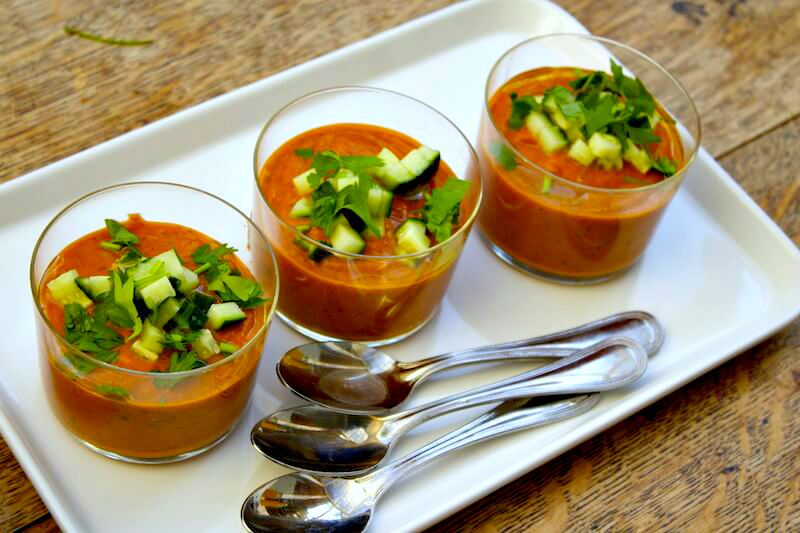Roasted Red Pepper Gazpacho