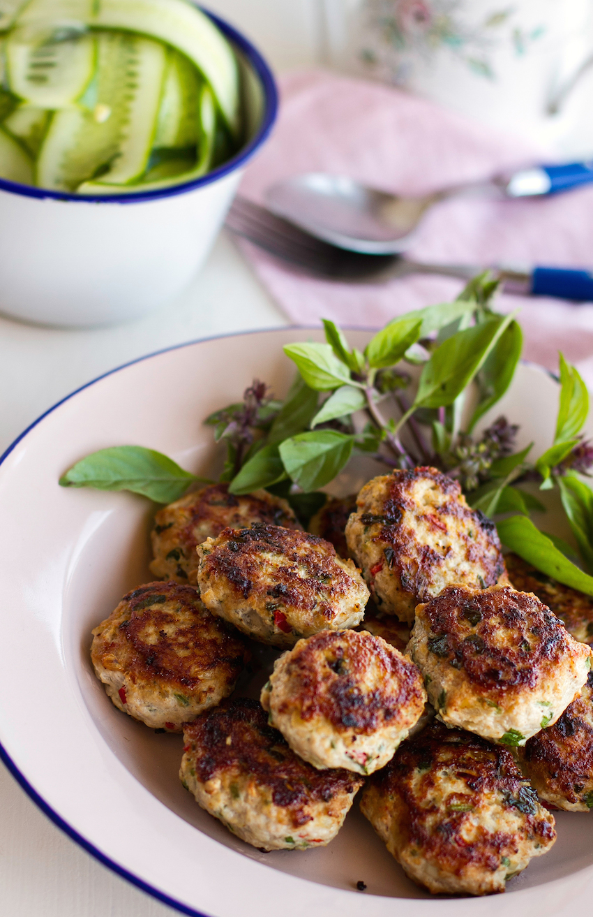 Asian chicken patties