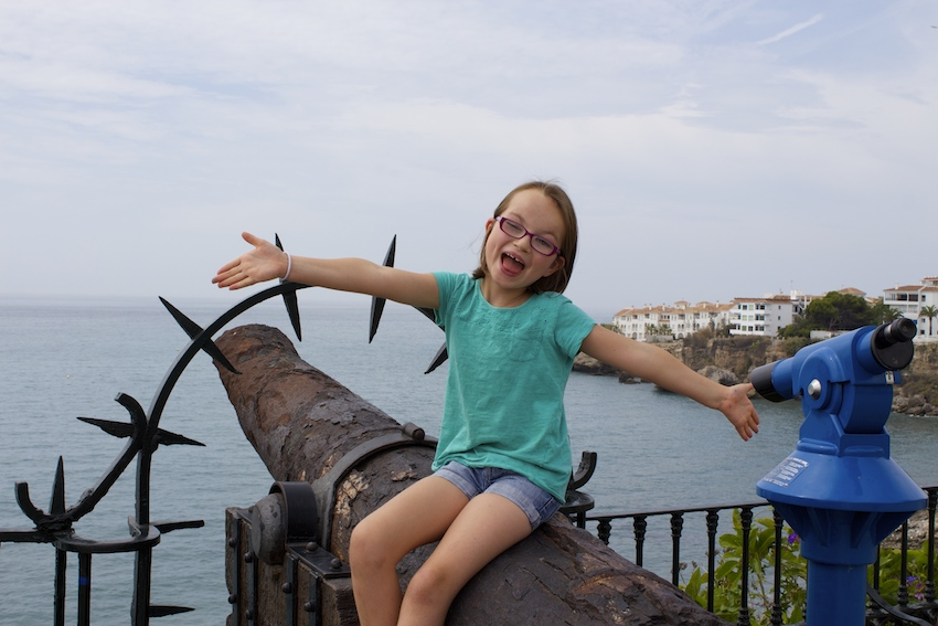Old cannon on the Mirador in Nerja, Spain