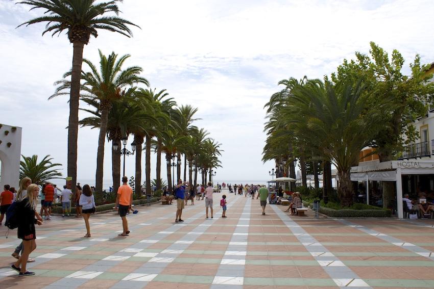 Promenade along the mirador in Nerja, Spain