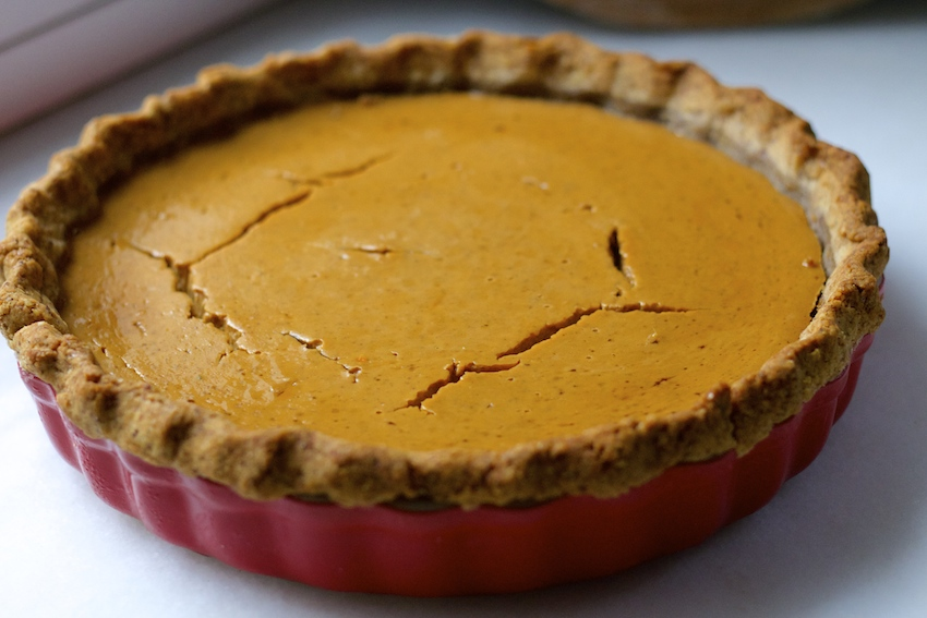 Hazelnut Pie Crust from And Here We Are...