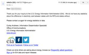 EIA Response