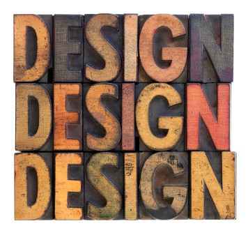 design - vintage wood typography