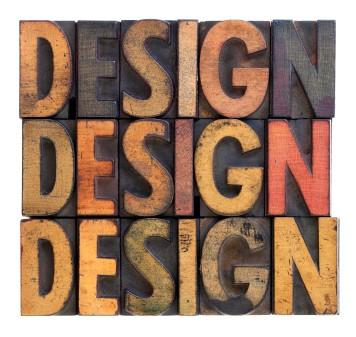 design - vintage wood typography
