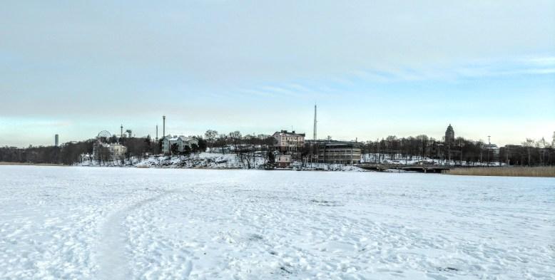 Töölönlahti Bay in Helsinki, Finland