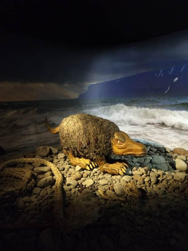 A shore laddie at the Skrímslasetur Sea Monster Museum in Bíldudalur, West Fjords Iceland