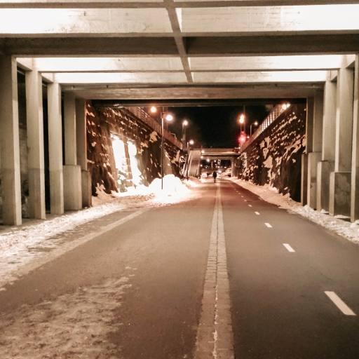 Baana Walking Path in Helsinki, Finland