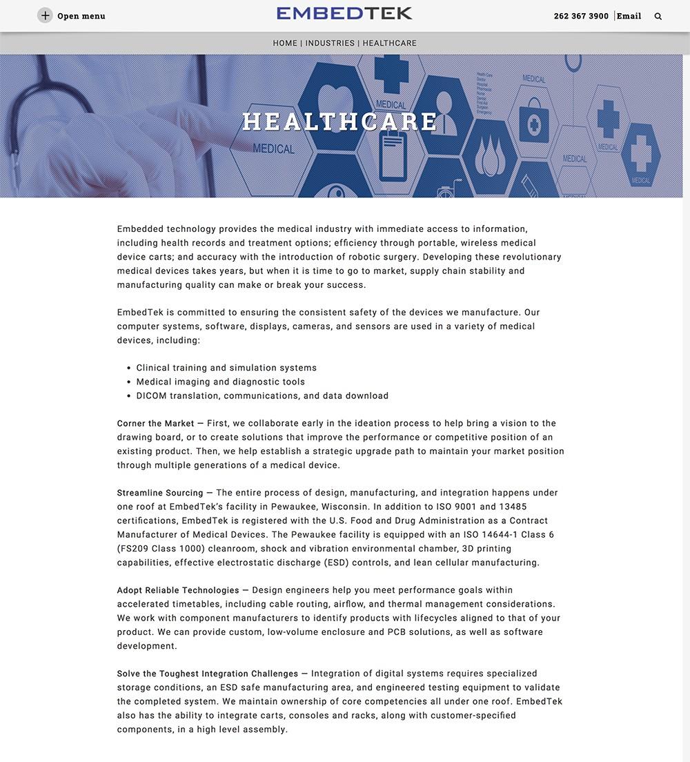 Healthcare Industry - Andiamo Creative