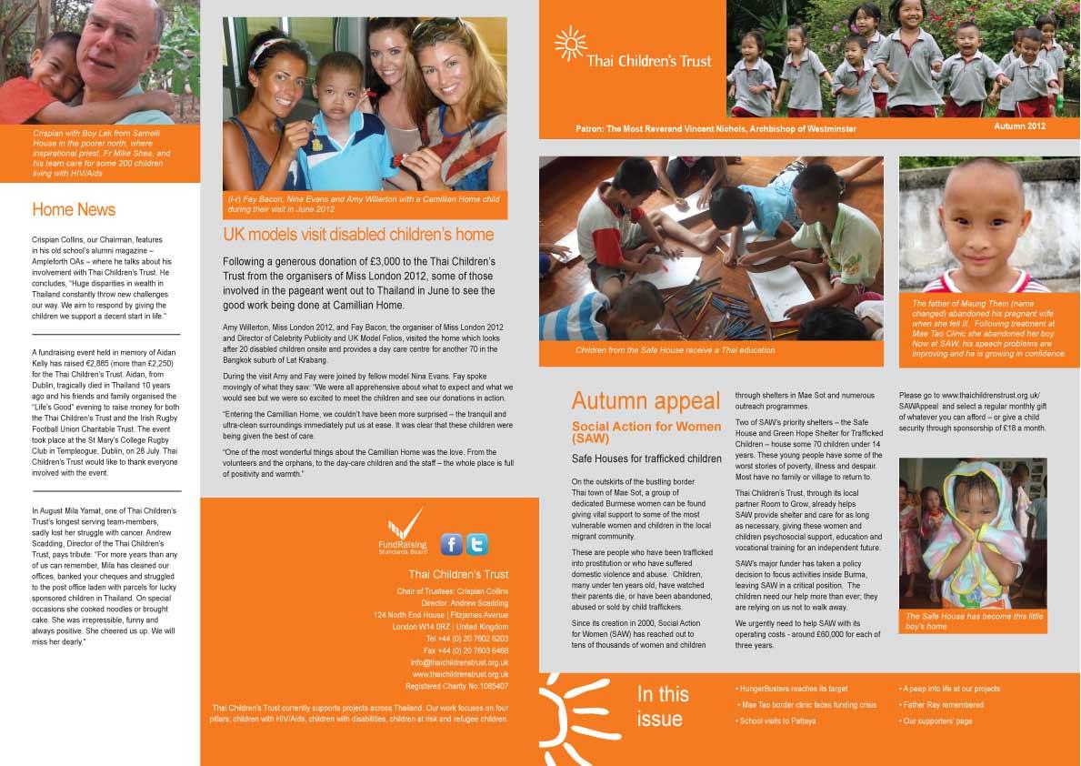 Thai Childrens Trust Print Andiamo Creative - Children's newsletter template