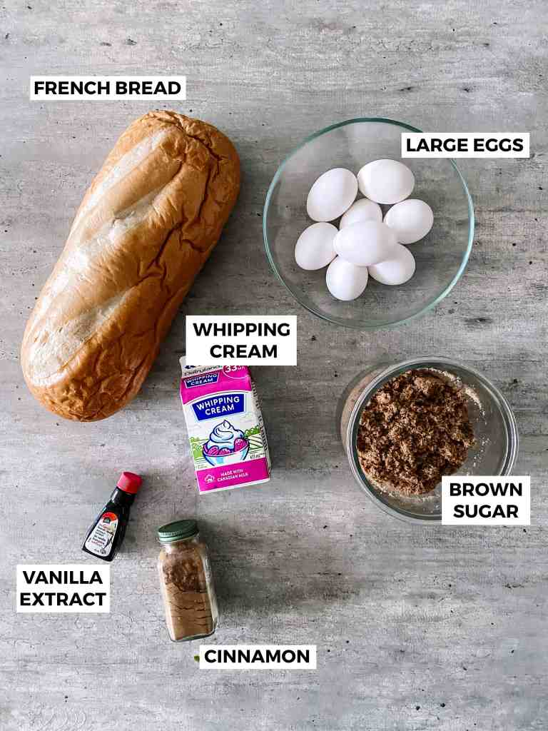 french toast casserole ingredients