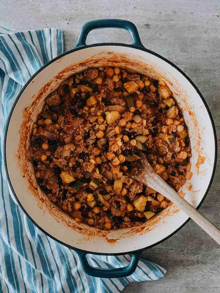 Turkey quinoa chili recipe