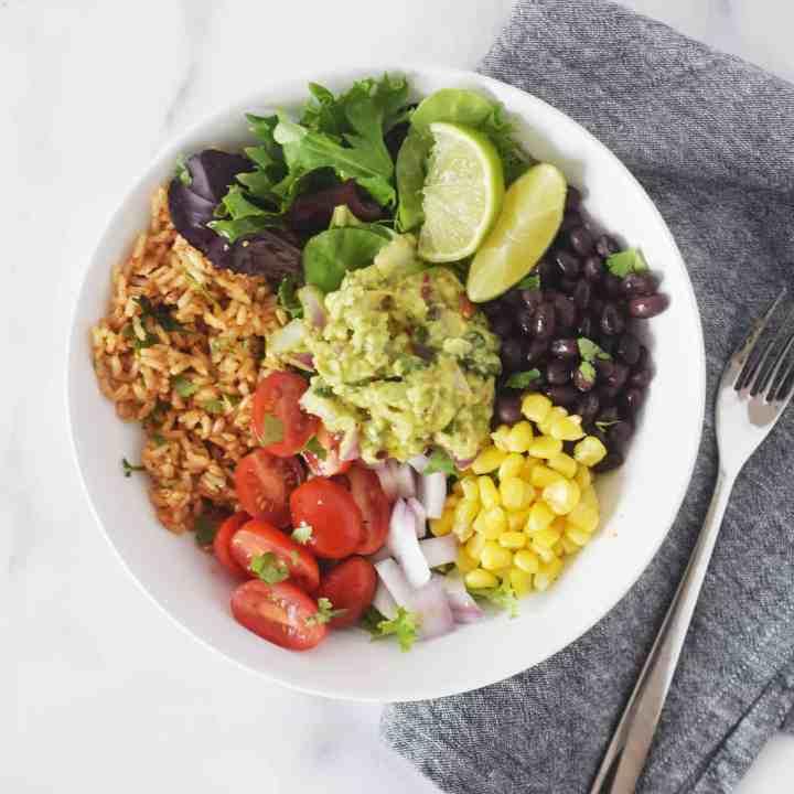 Veggie Burrito Bowl with Paprika Rice