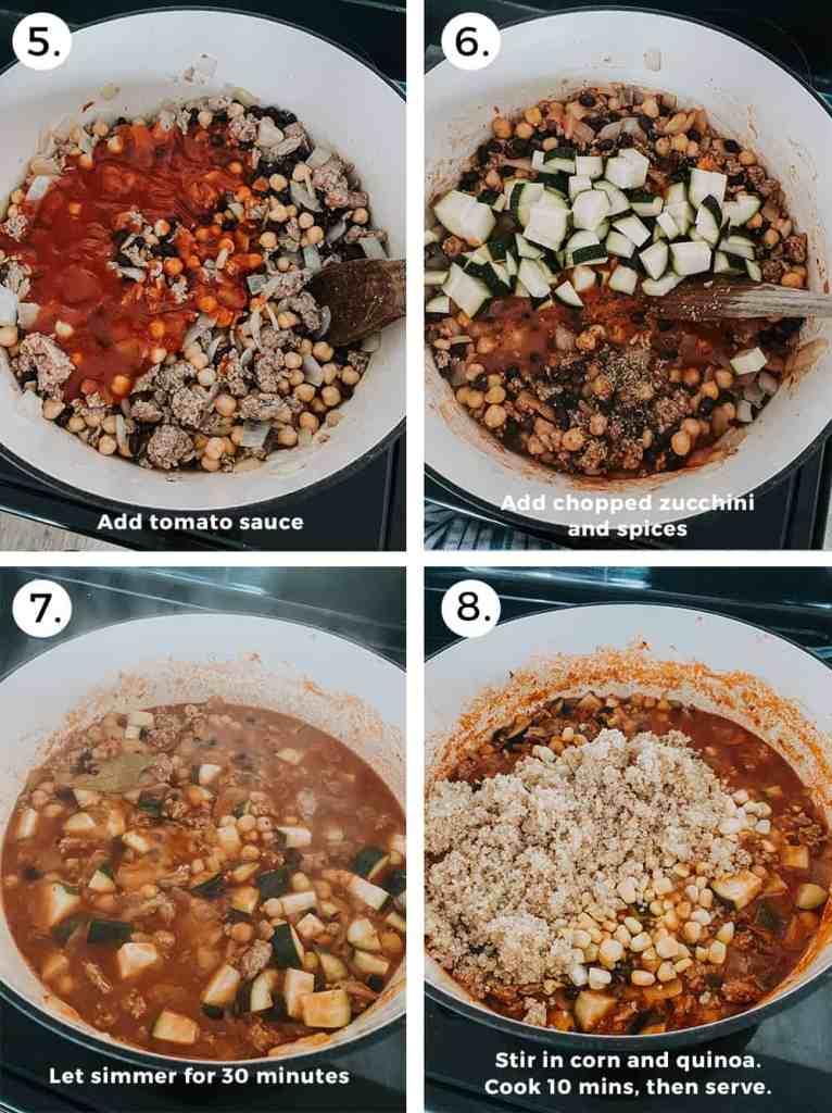 Turkey quinoa chili recipe instructions part two