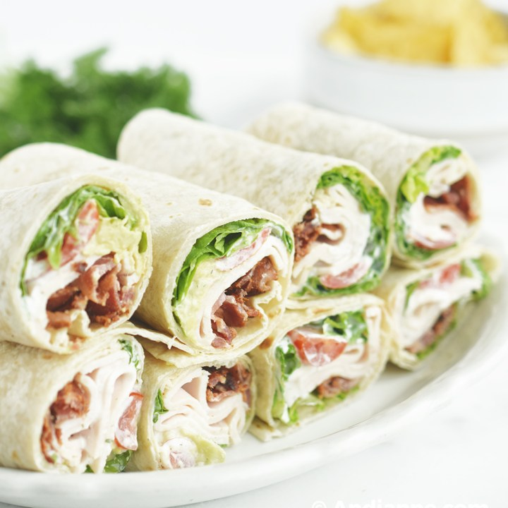Chicken Bacon Avocado Ranch Wraps