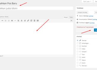 cara menambahkan postingan di wordpress