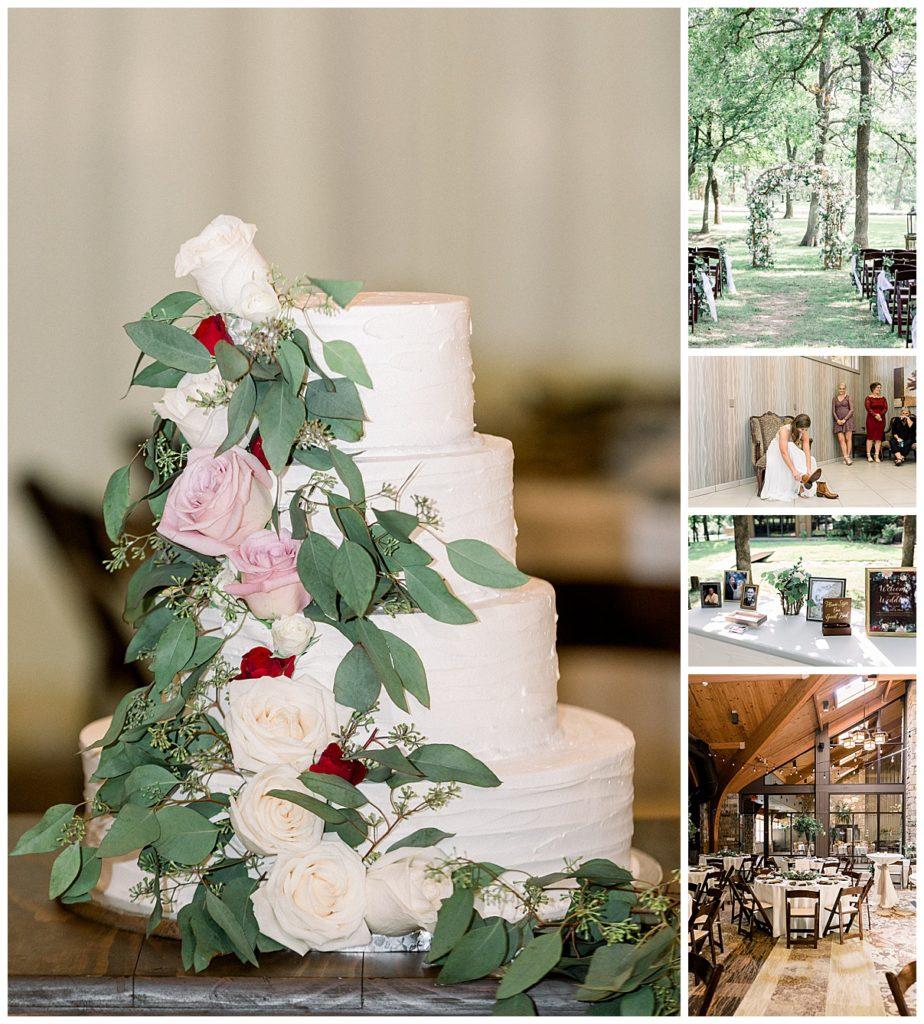 Spring wedding cake and spring wedding details at PostOak Lodge in Tulsa, OK| Tulsa Wedding Photographer| PostOak Lodge Wedding| Destination Wedding Photographer| Andi Bravo Photography