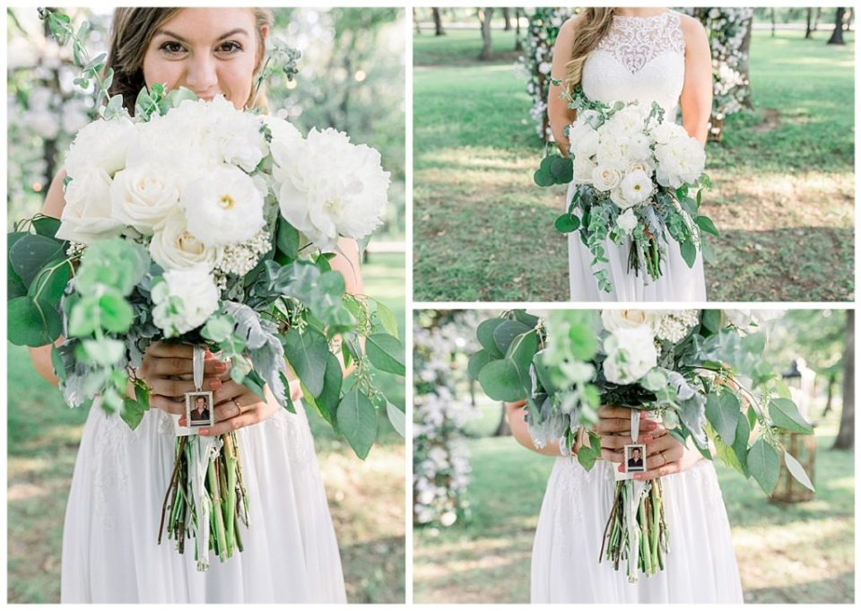 Bride and her bridal bouquet at PostOak Lodge in Tulsa, OK| Tulsa Wedding Photographer| PostOak Lodge Wedding| Destination Wedding Photographer| Andi Bravo Photography