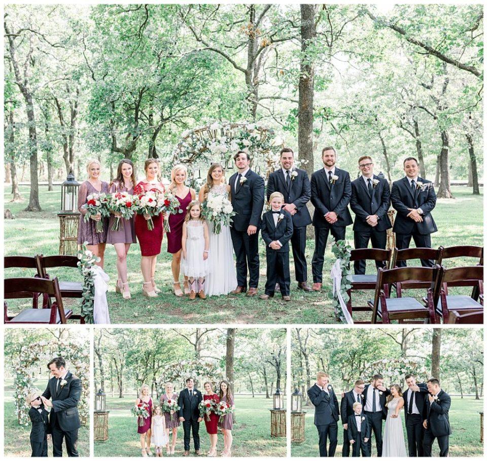 Bridal party at PostOak Lodge in Tulsa, OK| Tulsa Wedding Photographer| PostOak Lodge Wedding| Destination Wedding Photographer| Andi Bravo Photography