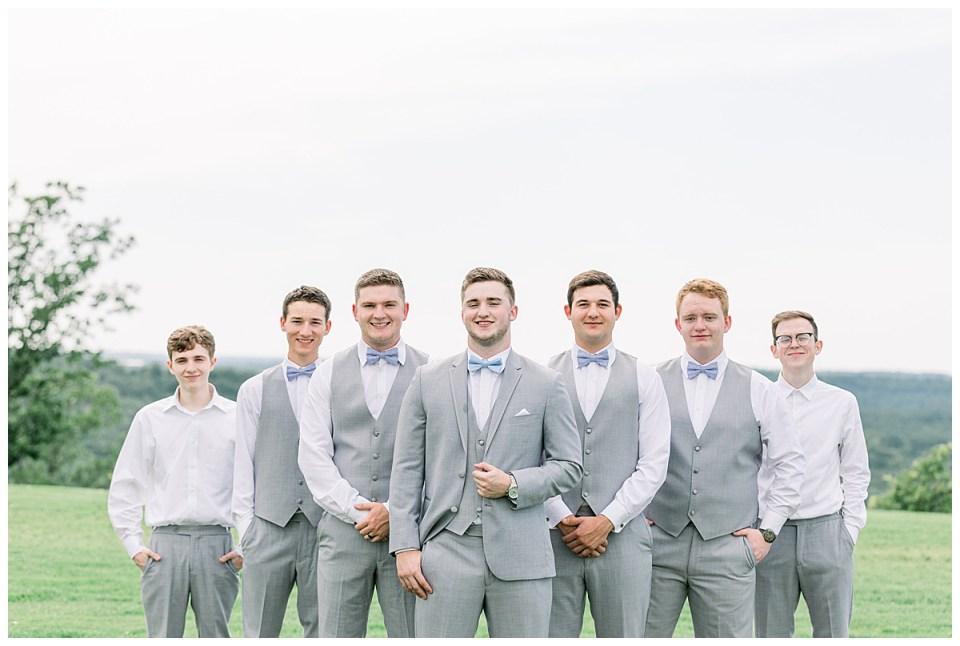 Groom and groomsmen| The View At Hillside Barn Wedding| Countryside Wedding|  Tulsa Wedding Photographer| Andi Bravo Photography