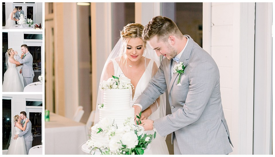 Cake cutting| The View At Hillside Barn Wedding| Countryside Wedding|  Tulsa Wedding Photographer| Andi Bravo Photography
