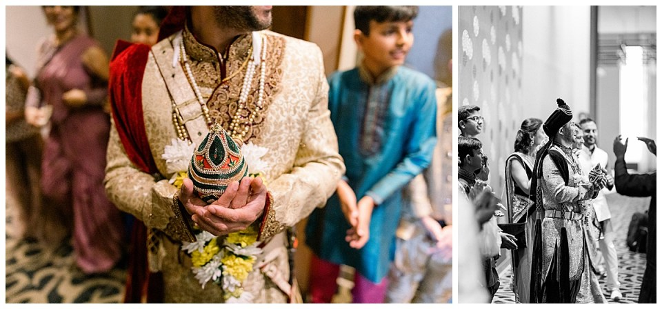 Groom holding Hindu ceremonial object| Hindu Indian wedding Tulsa| Tulsa wedding photographer| Andi Bravo Photography