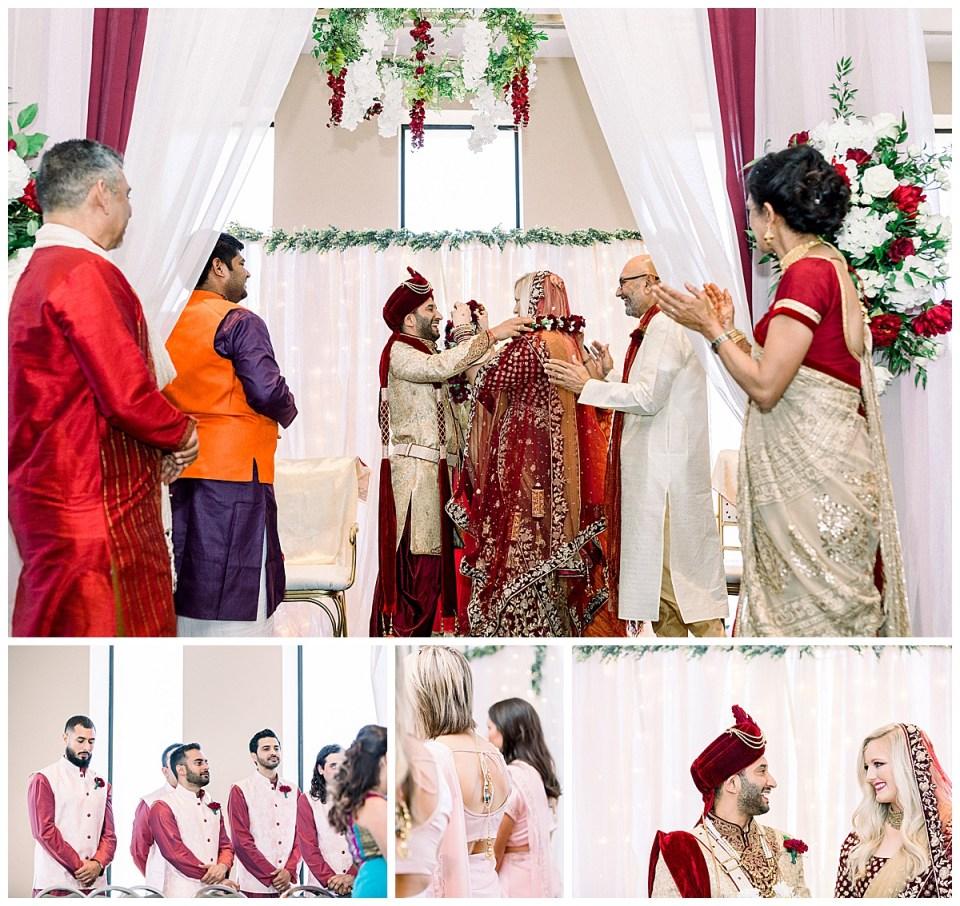 Hindu ceremonial vows| Tulsa wedding| Hindu wedding Tulsa| Indian wedding Tulsa| Sky Loft at First Place Tower| Tulsa wedding photographer| Andi Bravo Photography