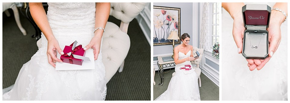 Bride opens gift before the wedding| Tulsa wedding| Andi Bravo Photographer