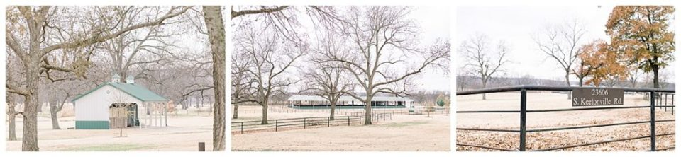Shots of Pecandarosa ranch grounds wedding venue