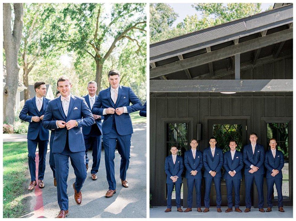 Groom and groomsmen at Spain Ranch wedding