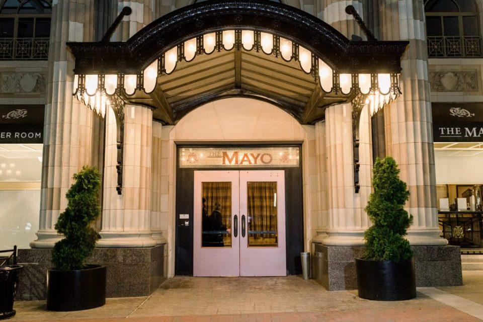 The front of the Mayo Hotel Tulsa Oklahoma