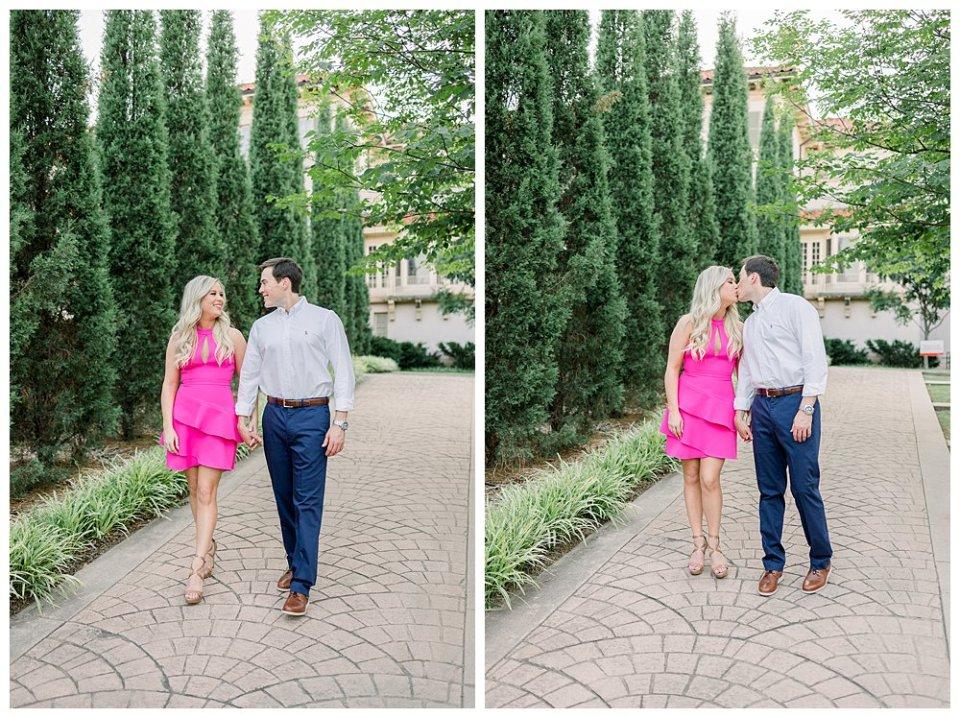 Couple walking at Tulsa Philbrook Museum