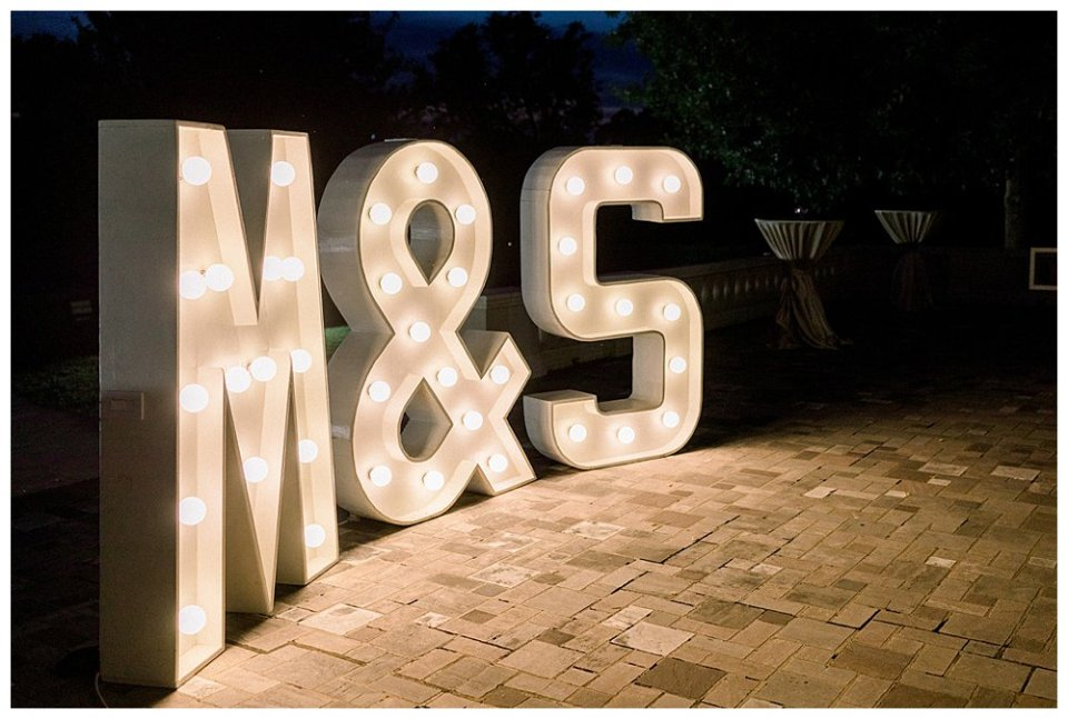 M&S wedding marquee sign