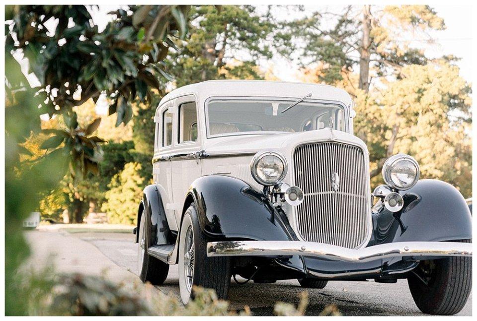 Vintage car Mansion at Woodward Park elopement Stunning  Timeless Tulsa Photographer