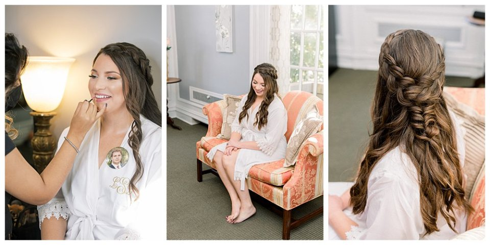 bride getting ready Mansion at Woodward Park elopement Stunning  Timeless Tulsa Photographer