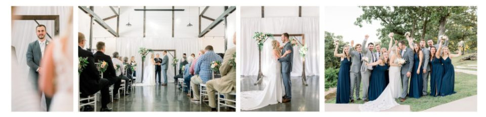 Ceremony photography, as well as wedding portraits at Dream Point Ranch.