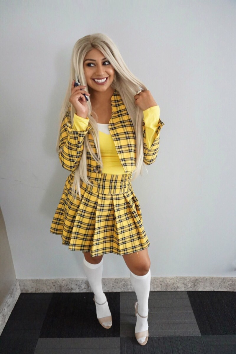 sc 1 st  Andie Sparkles & Yellow Plaid Skirt DIY | Classic Clueless Inspired Outfit