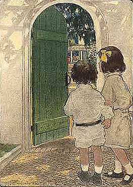 "Ilustraţie de Jessie Willcox Smith, din ""Scribner's Monthly Magazine"", din decembrie 1903"
